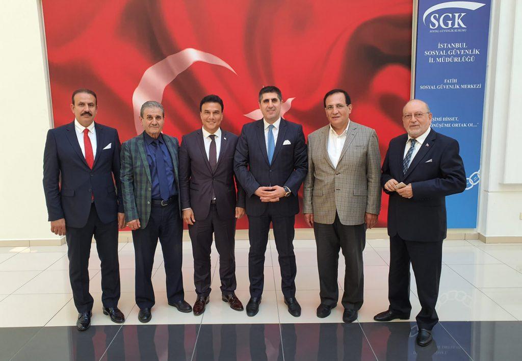 Fatih SGK Müdürü Sayın Coşkun Bilgin ve Değerli FAGİDER üyeleri
