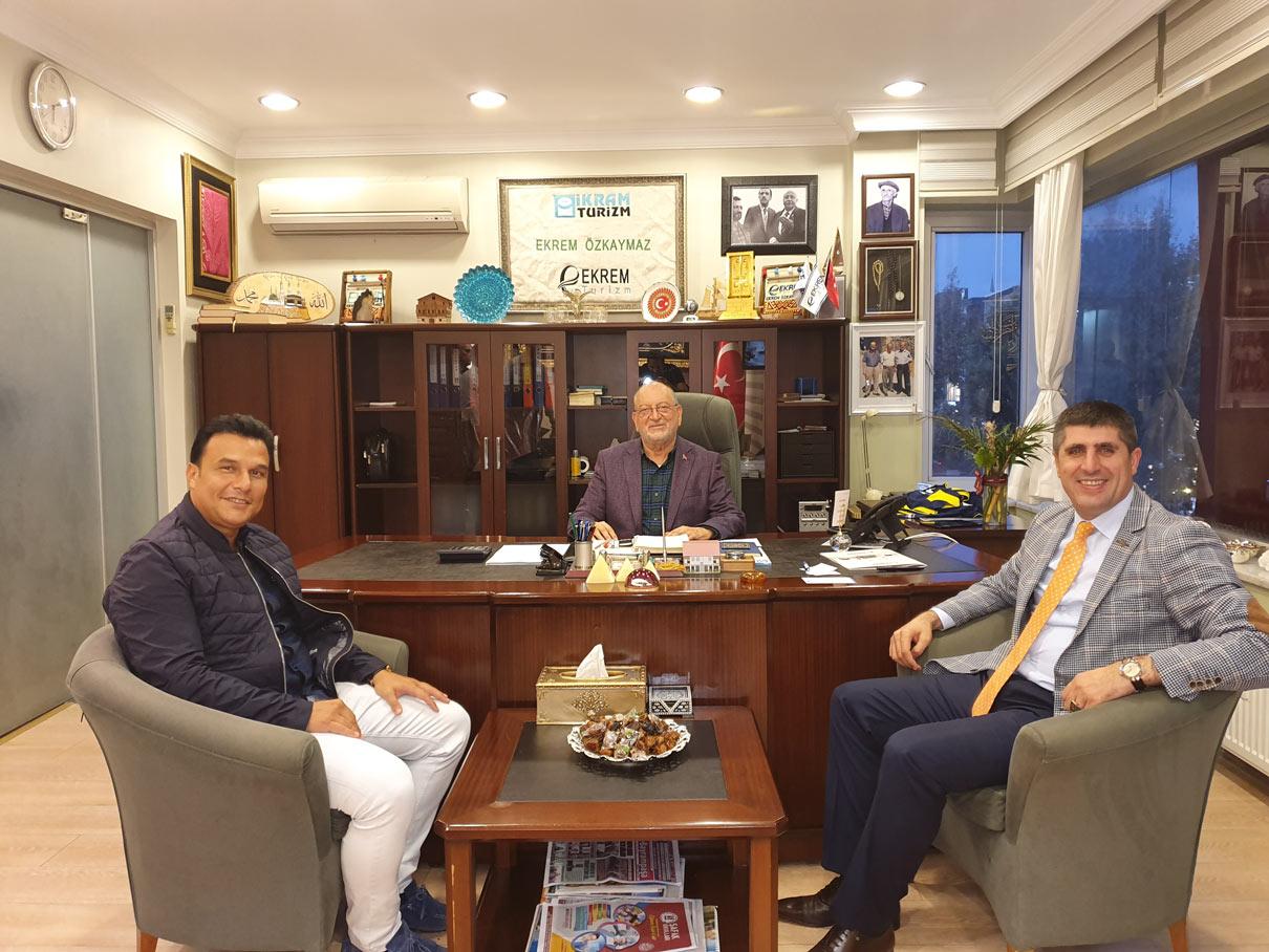 Yönetim Kurulu Üyesi Tuğrul Dirier / Onursal Başkan Ekrem Özkaymaz / Fatih SGK Müdürü Coşkun Bilgin